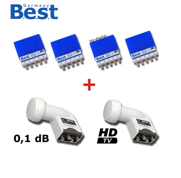 4 diseqc best schalter 4 1 2 quad lnb set hd hdtv 3d ebay. Black Bedroom Furniture Sets. Home Design Ideas