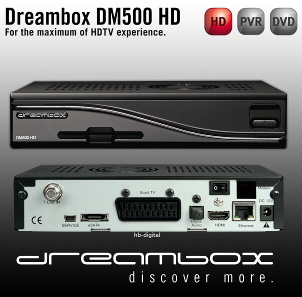 DREAMBOX 500 HD PVR LINUX Sat Receiver DM500 HDTV 800 on