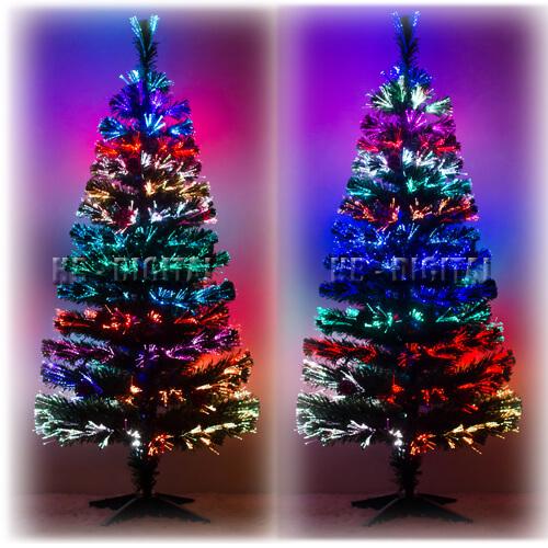 weihnachtsbaum led glasfaser k nstlicher tannenbaum christbaum farbwechsel ebay. Black Bedroom Furniture Sets. Home Design Ideas