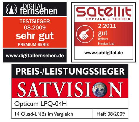 sky 0,1 +TESTSIEGER OPTICUM DIGITAL QUAD Quattro Switch LNB FULL HD HDTV 4K HD
