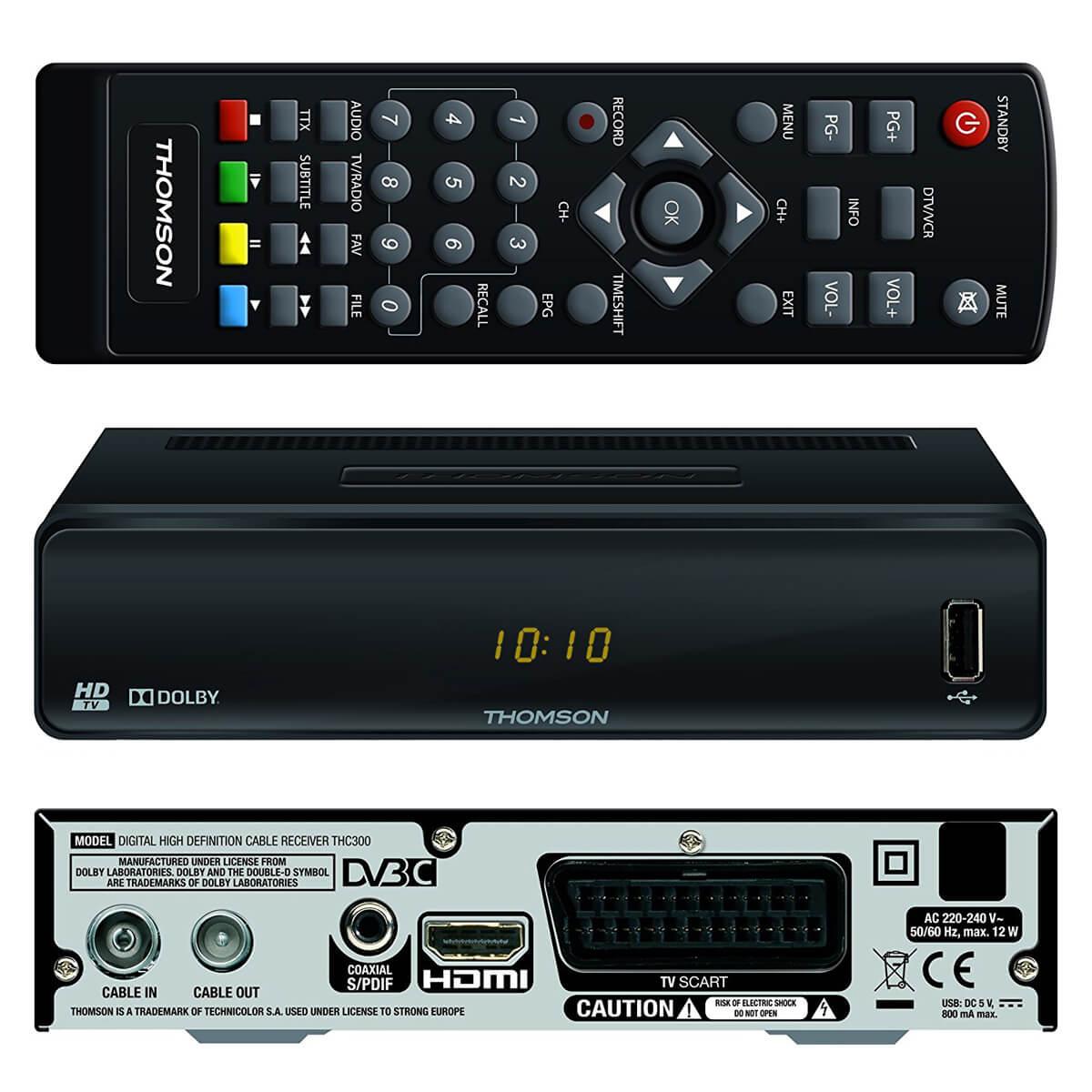 digital kabelreceiver kabel tv receiver dvb c hdtv thomson. Black Bedroom Furniture Sets. Home Design Ideas